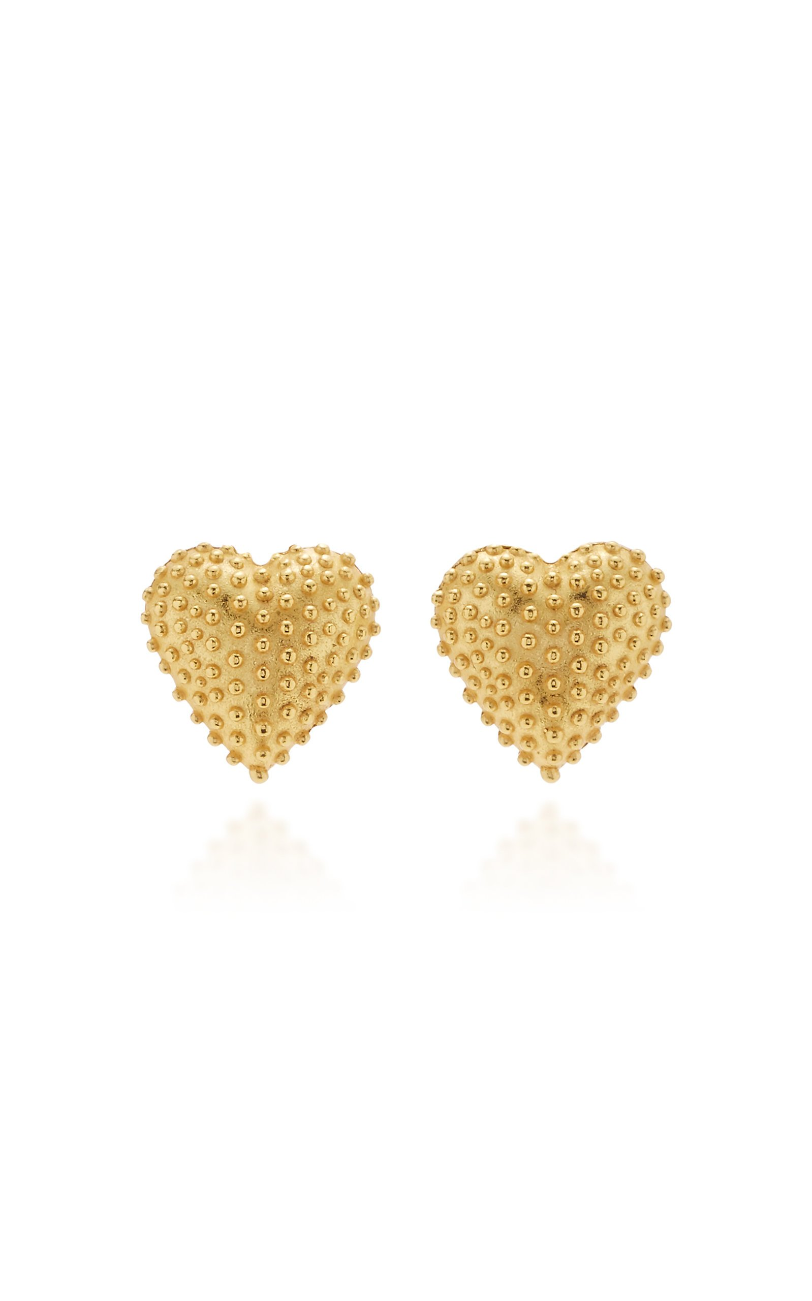 24k yellow gold filled pink sapphire enchanting stud brand new earring