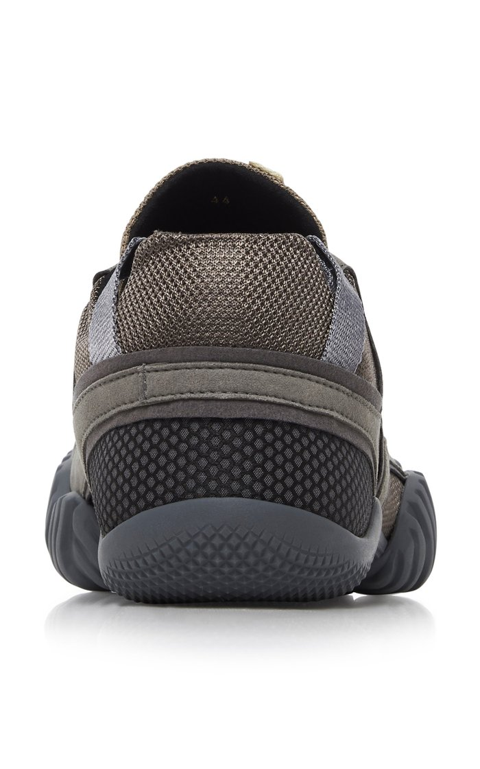 Berun Leather, Suede and Mesh Low-Top Sneakers