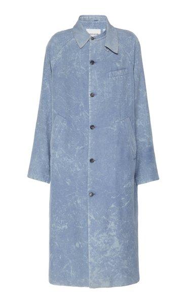 Marbled Silk Overcoat