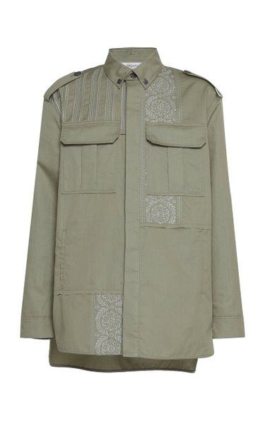 Embroidered Cotton-Blend Shirt