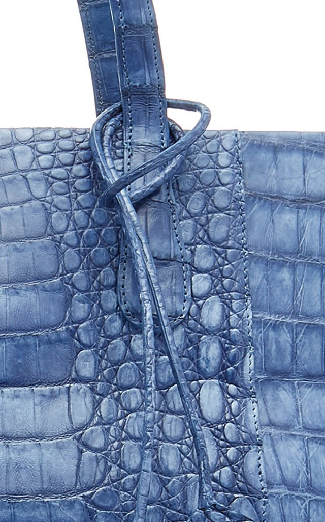 Erica Medium Crocodile Zipper Bag