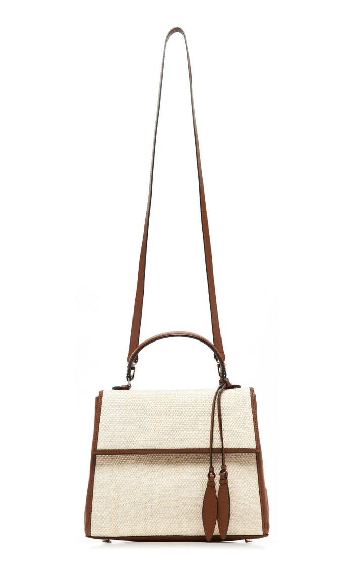 Viola Leather-Trimmed Canvas Bag