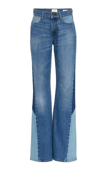 Le High Patchwork Flared Jeans