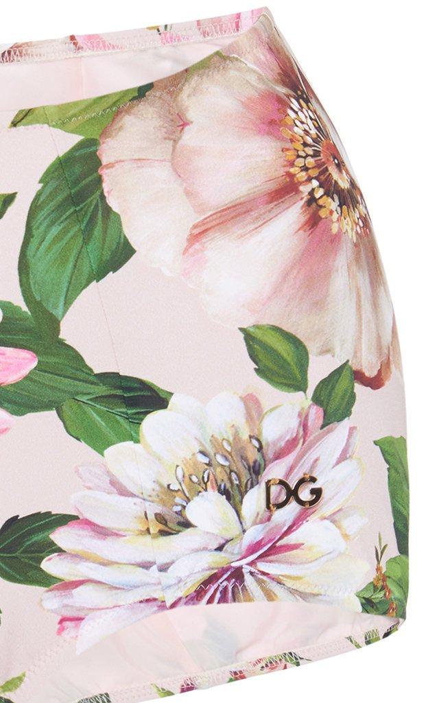 Floral-Print High-Rise Bikini Bottoms