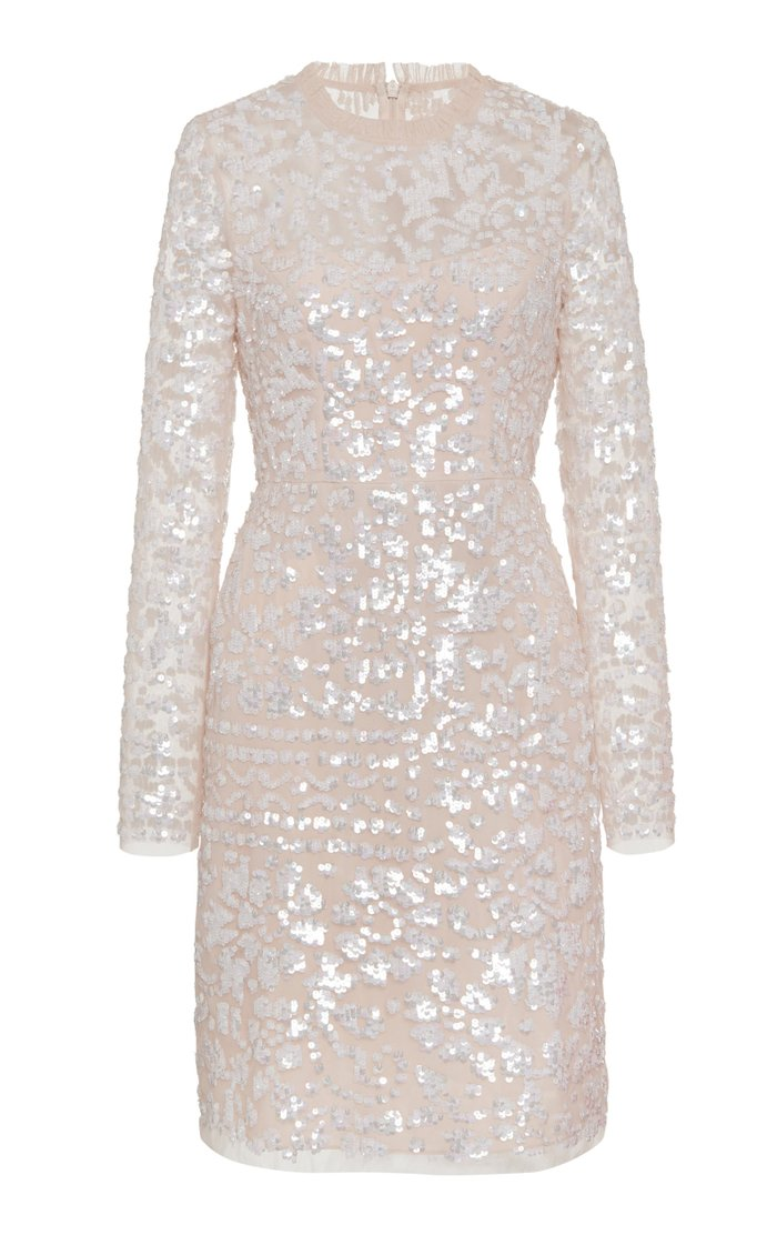 Tempest Sequined Tulle Mini Dress