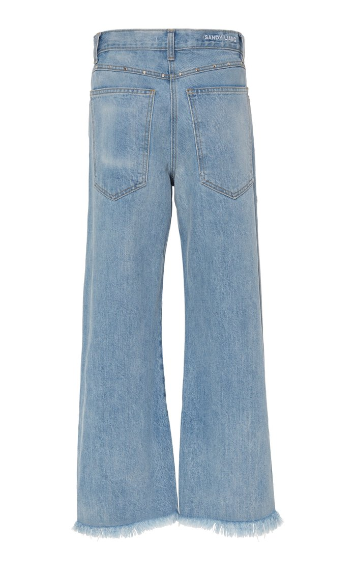 Betty Frayed Cropped Flared Jean