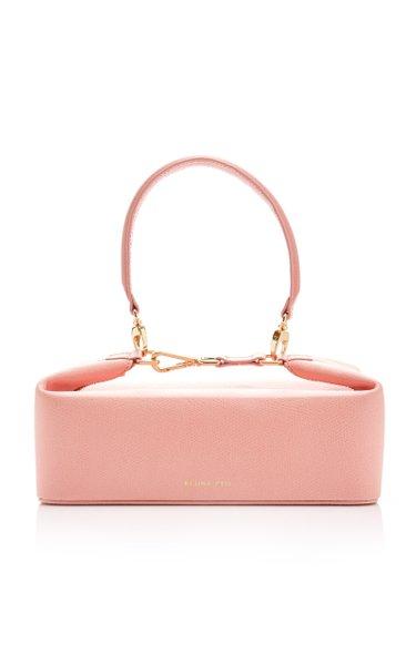 Olivia Lizard-Effect Leather Bag