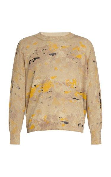 Jacquard Knit Cotton Sweater
