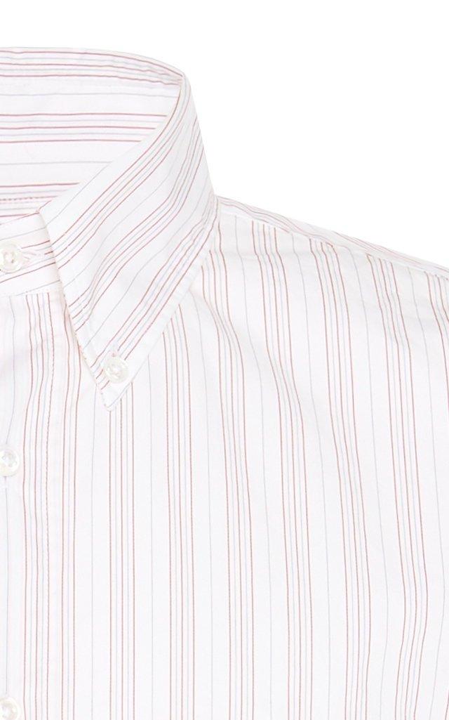 Striped Cotton Button-Down Shirt