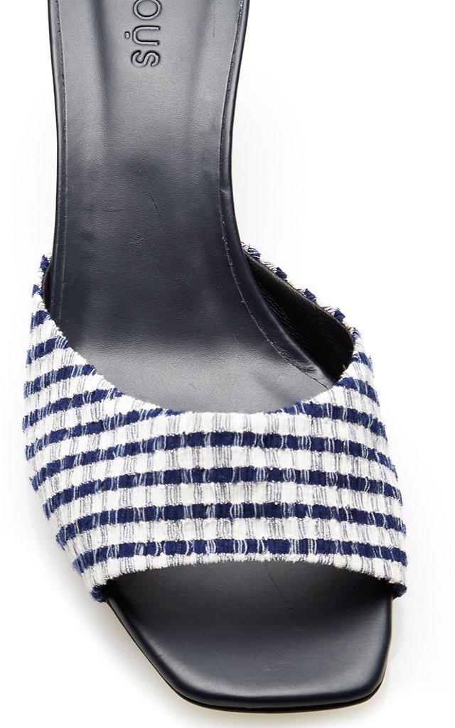 Plaid Leather Sandals