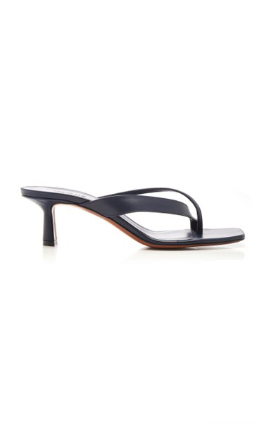 Florae Leather Thong Sandals