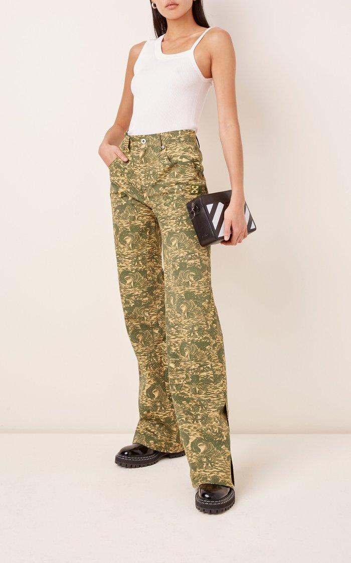 Camouflage Ripstop Straight-Leg Carpenter Pants