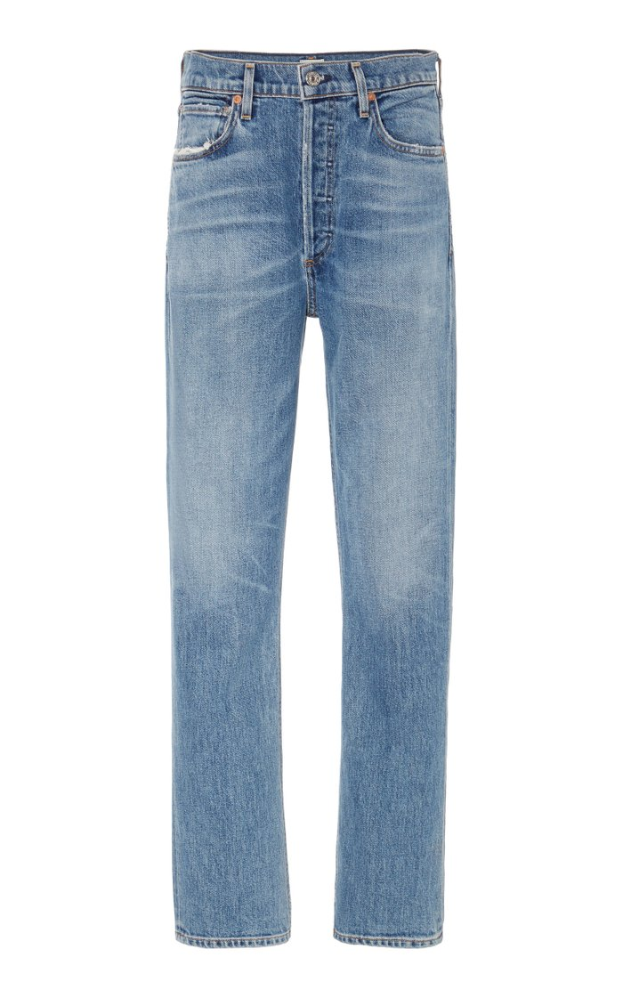 Charlotte Stretch High-Rise Straight-Leg Jeans