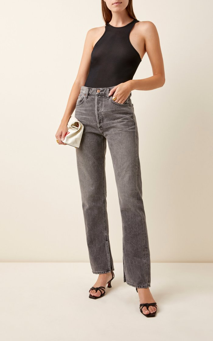 Campbell Rigid High-Rise Straight-Leg Jeans