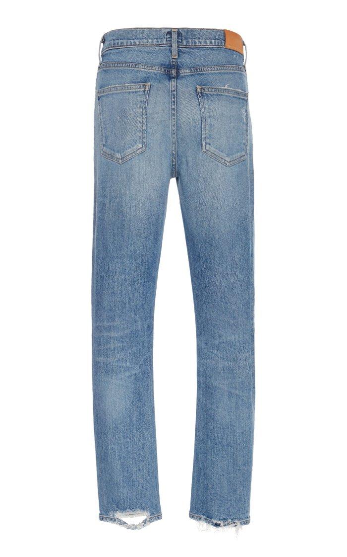 Harlow Stretch Mid-Rise Slim-Leg Jeans