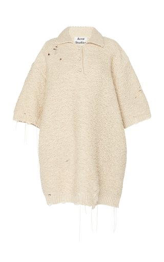 Kodele Distressed Wool Polo Shirt