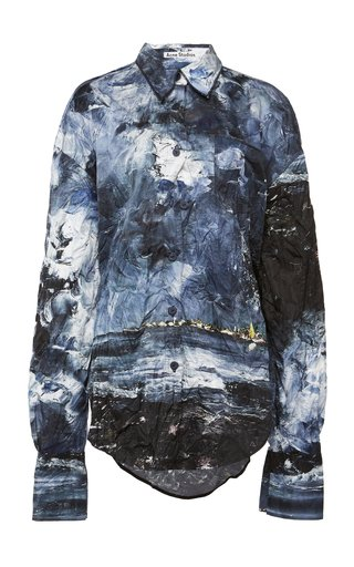 Sadira Painted Crinkled Shirt