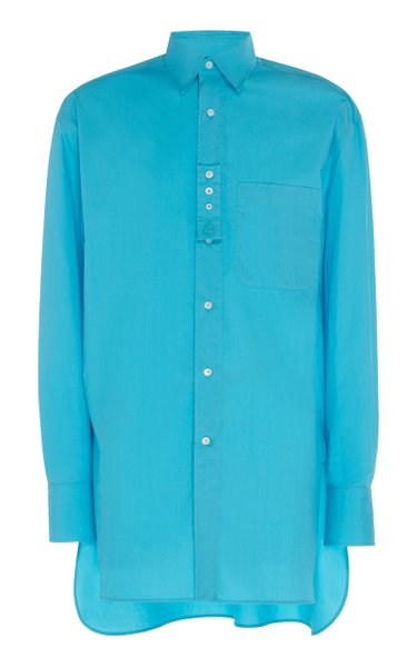 Oversized Woven Cotton Shirt