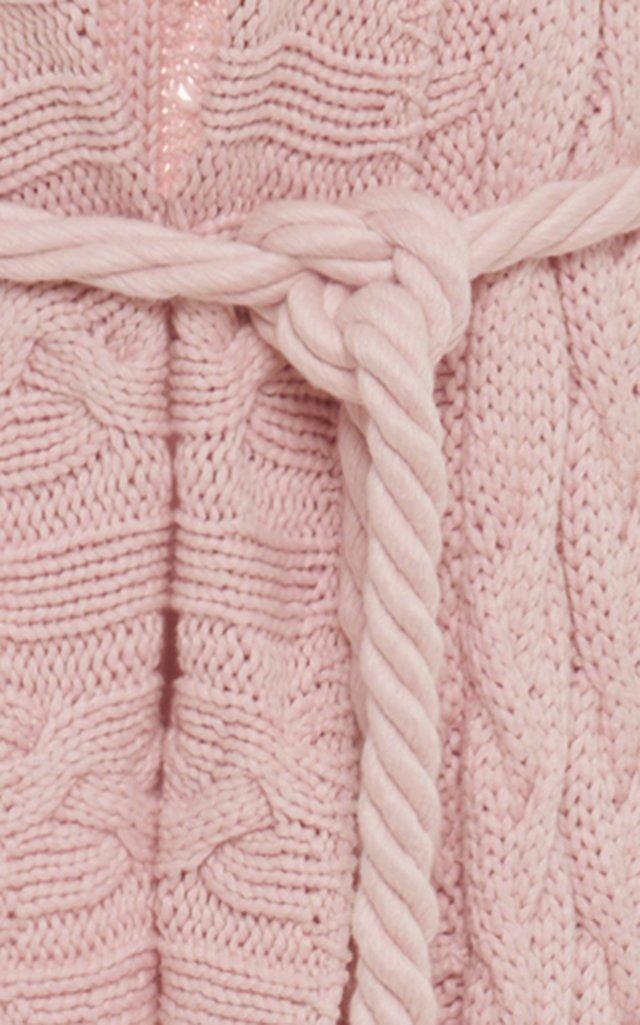 Cable Knit Cotton-Blend Maxi Cardigan