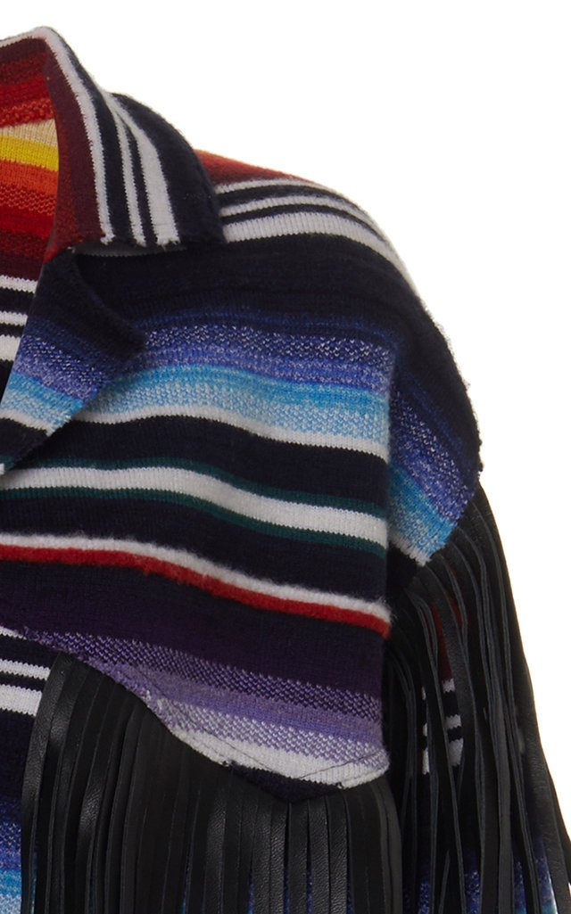 Sarape Fringed Cashmere-Blend Jacket
