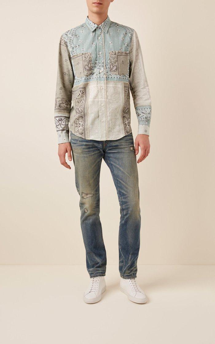 Bandana Reconstructed Cotton Flannel Shirt