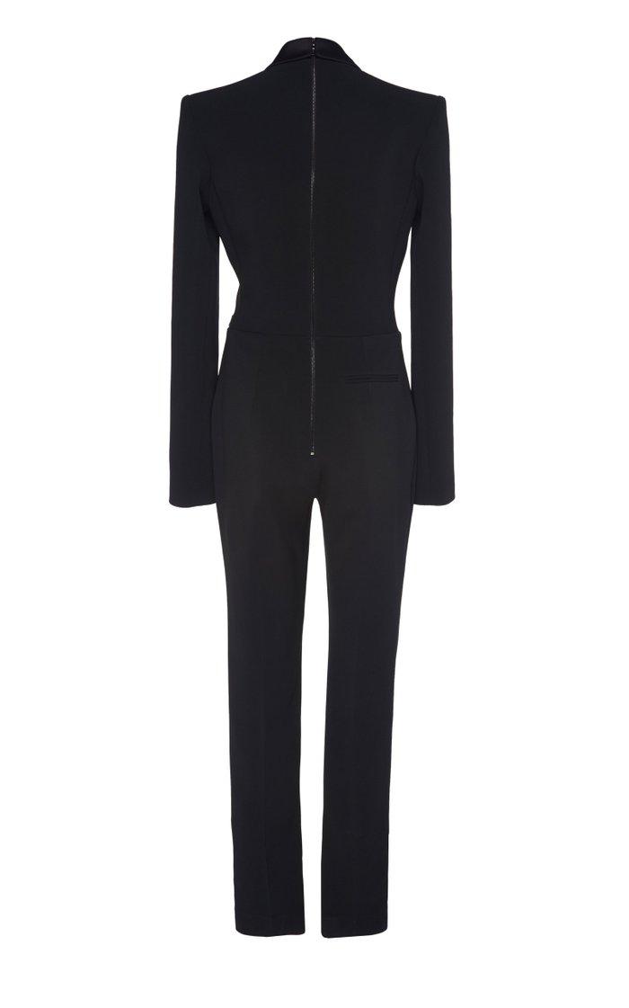 Tuxedo Straight-Leg Jumpsuit