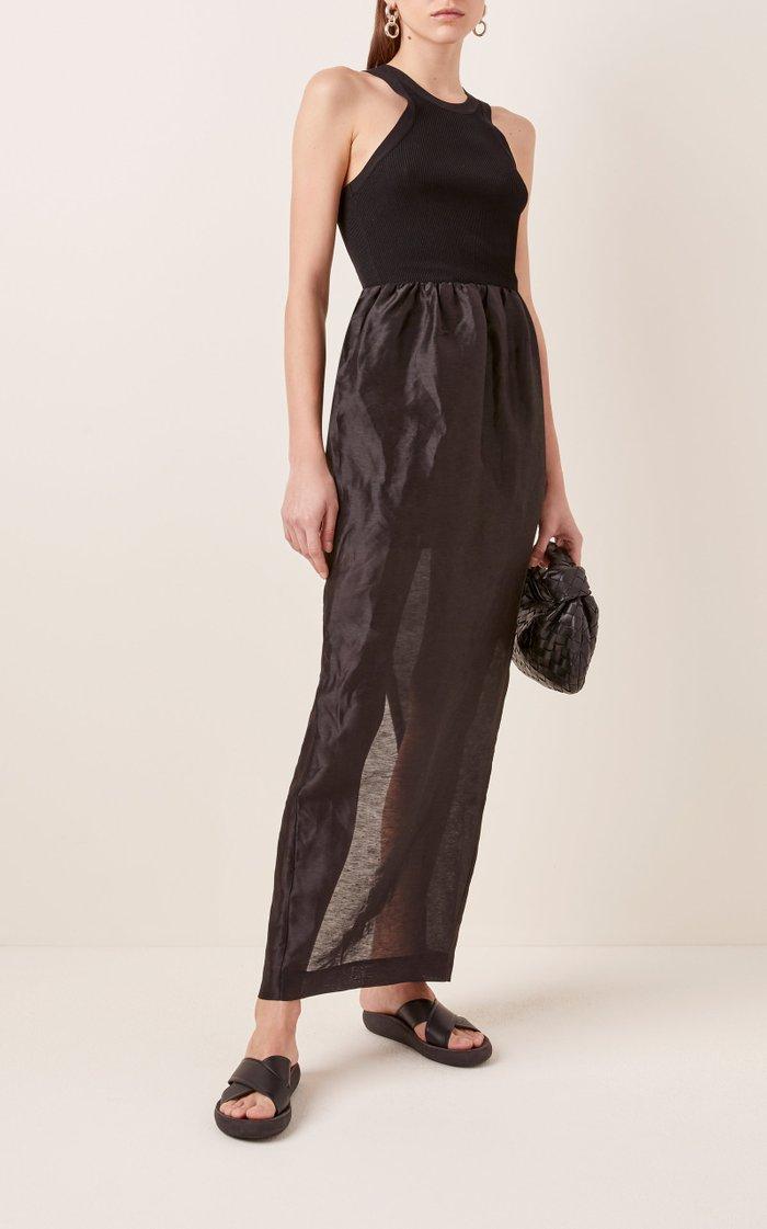 Nonza Linen-Blend Maxi Dress