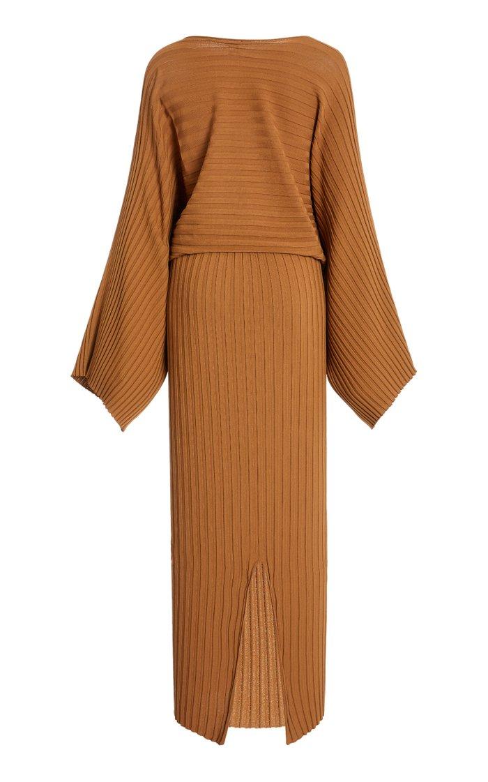 Maristella Stretch-Knit Maxi Dress
