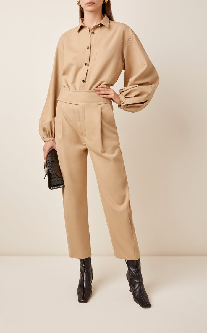 Lombardy Cropped Stretch-Twill Pants