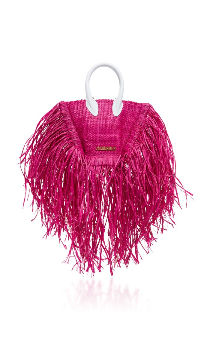 Le Petit Baci Fringed Straw Bag