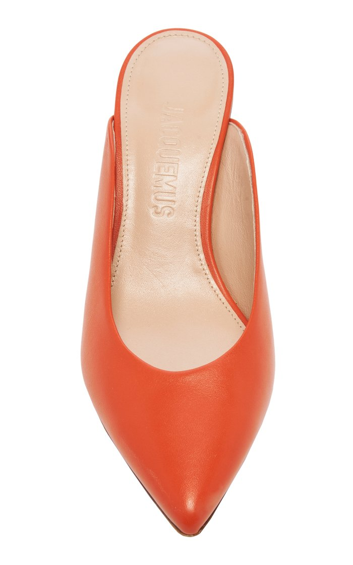 Maceio Embellished-Heel Leather Mules