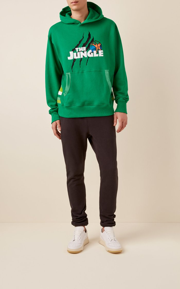 The Jungle Printed Cotton-Jersey Hoodie