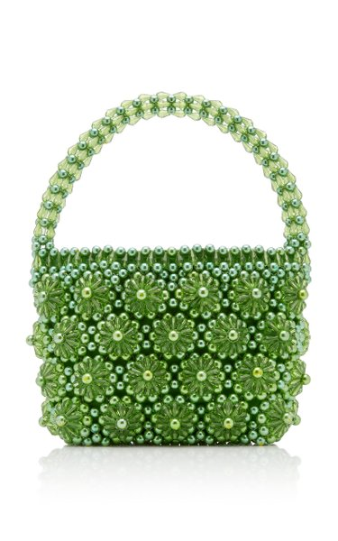 Shelly Beaded Top-Handle Bag