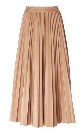 Phoebe Pleated Georgette Maxi Skirt