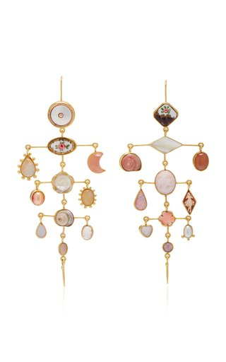 Multilayer Victorian Drop Earrings