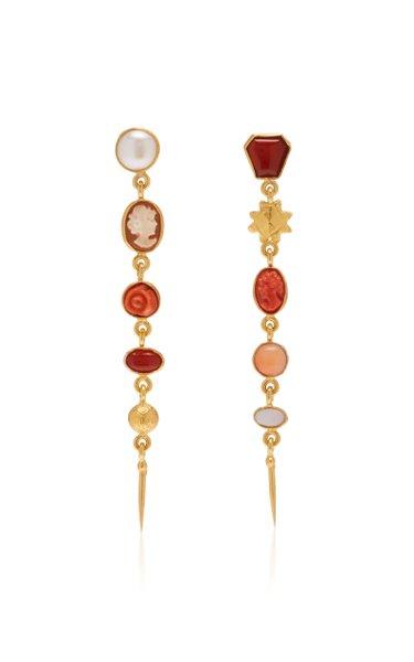 Five Charm Victorian Drop Earrings