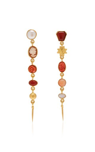 Five Charm Victorian Drop Earrings