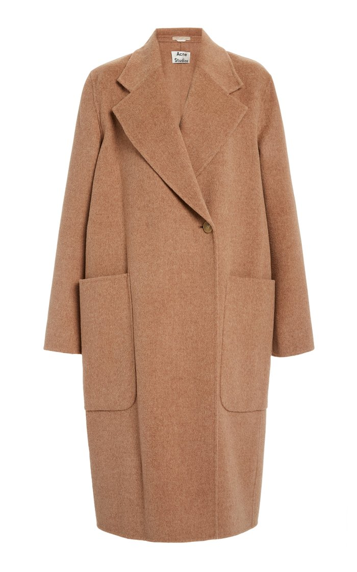 Carice Double Oversized Belted Wool Coat