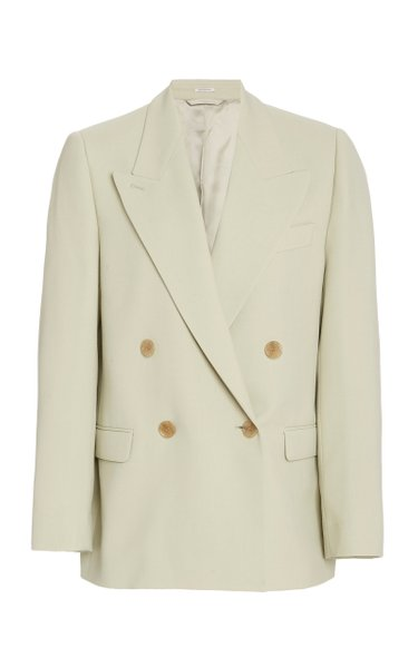 Janny Twill Double-Breasted Blazer