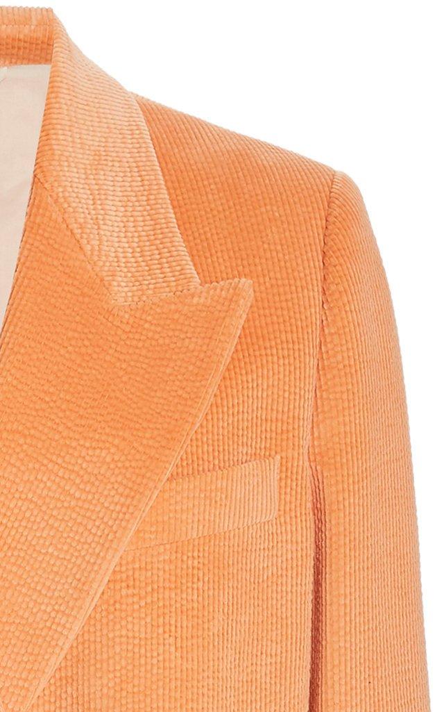 Janny Corduroy Double-Breasted Blazer