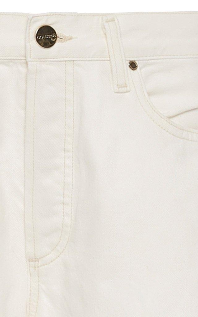 Benefit Stretch High-Rise Straight-Leg Jeans