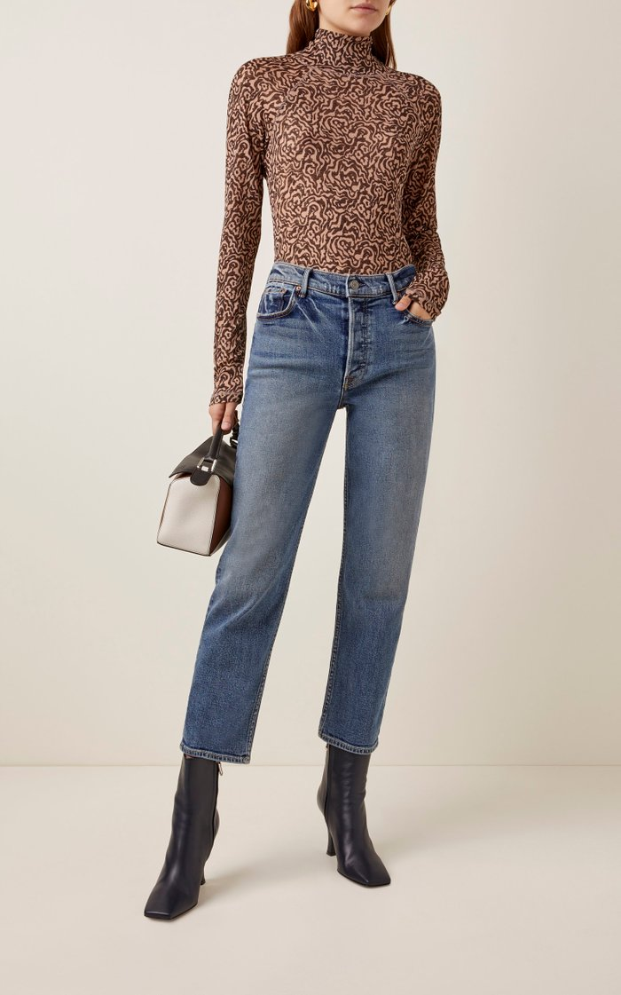 Helena Comfort Stretch High-Rise Straight-Leg Jeans