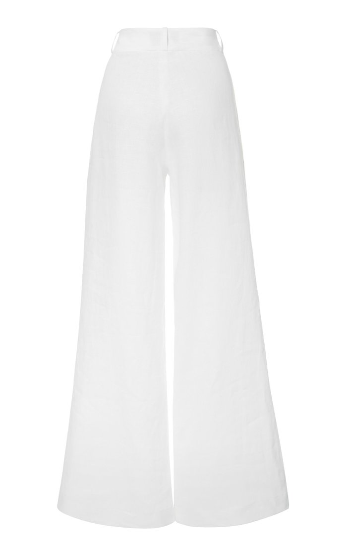 The Rivello Linen Wide-Leg Pants