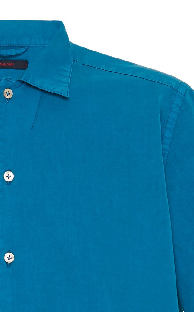 Button-Front Cotton Polo Shirt