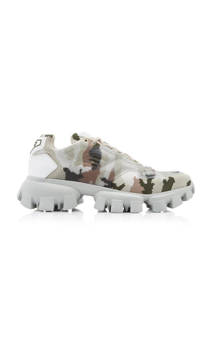Camo Rubber-Knit Sneakers
