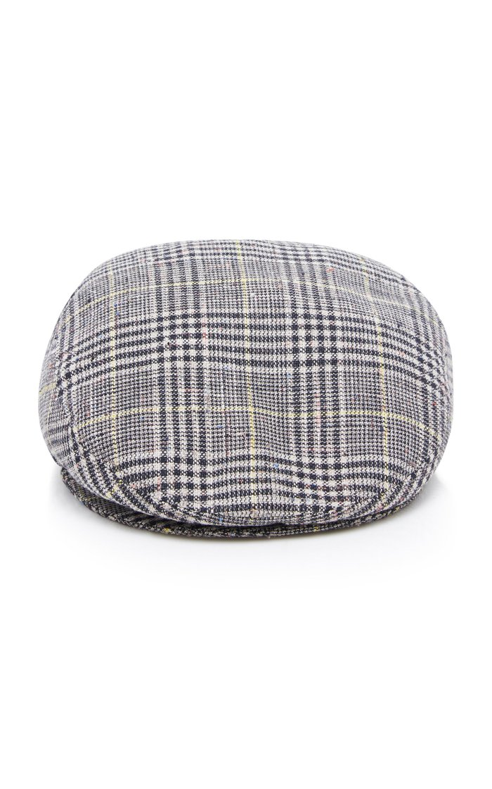Evie Checked Wool Cap