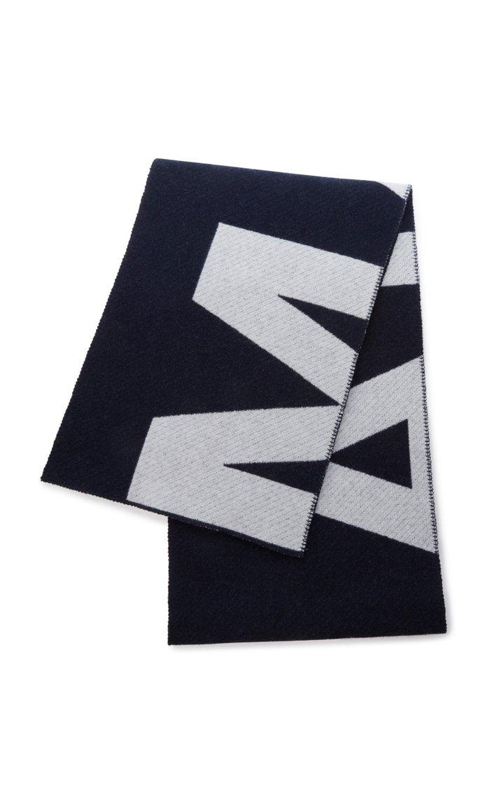 Loli Logo Intarsia Wool-Blend Scarf