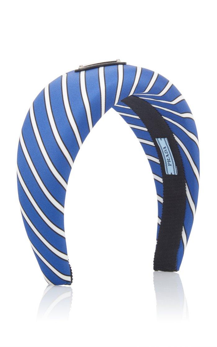 Striped Silk-Satin Headband