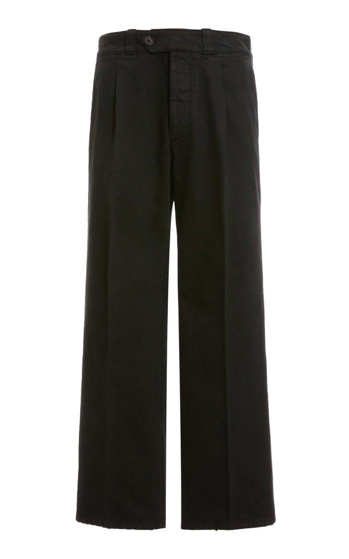 Pleated Cotton Pants