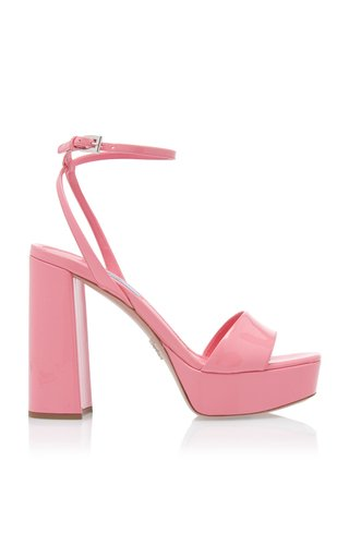 Patent-Leather Platform Sandals